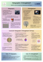 Holographic Entanglement Poster